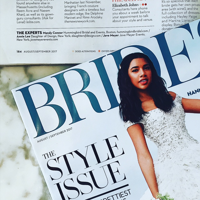 As Seen In Brides Magazine! — Hummingbird Bridal and Events