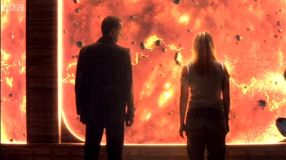 Dr Who and Rose  visit the eventual natural end of the Earth in the year 5.5/apple/26.