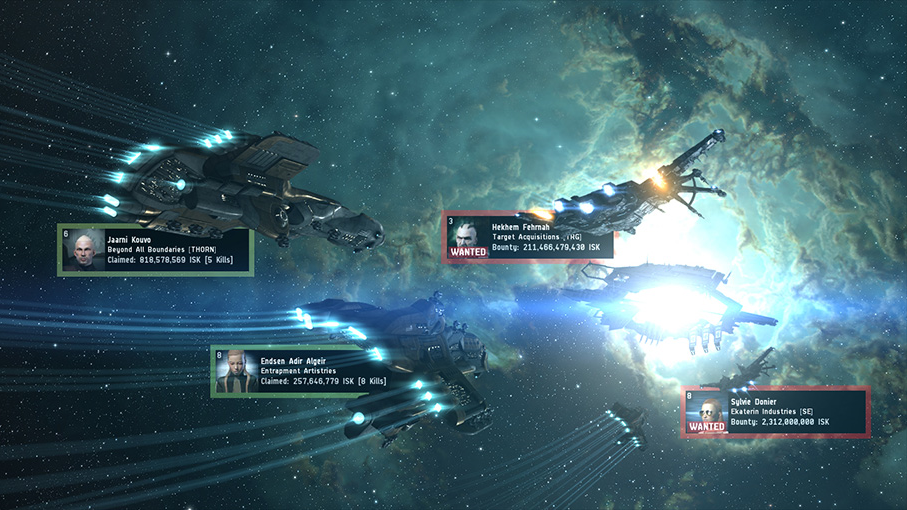 The Eve Online MMORPG takes place over 21,000 years in the future, far from Earth.