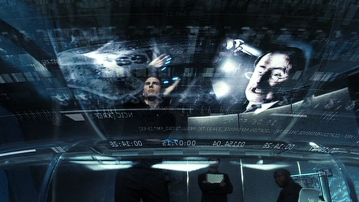 Minority Report , in 2054 precognition will arrest murderers before they kill.