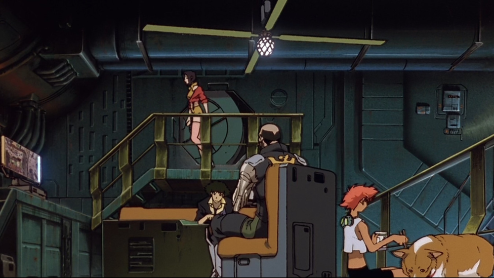 2071 - Odd jobs and adventures for profit around the solar system in  Cowboy Bebop .