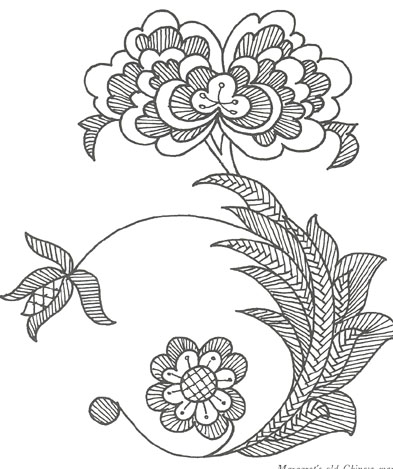 Chinese Mandarin Rose Pattern.