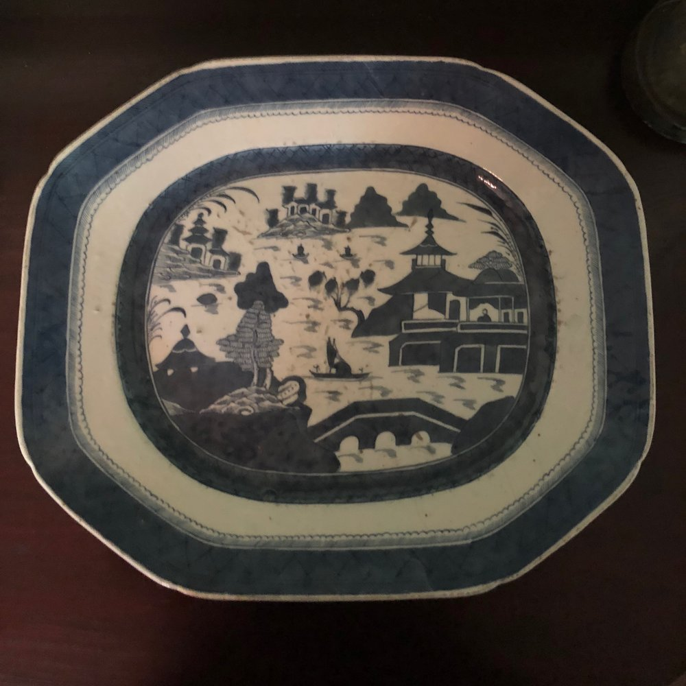 Canton ware platter (Accession Number C014.C)