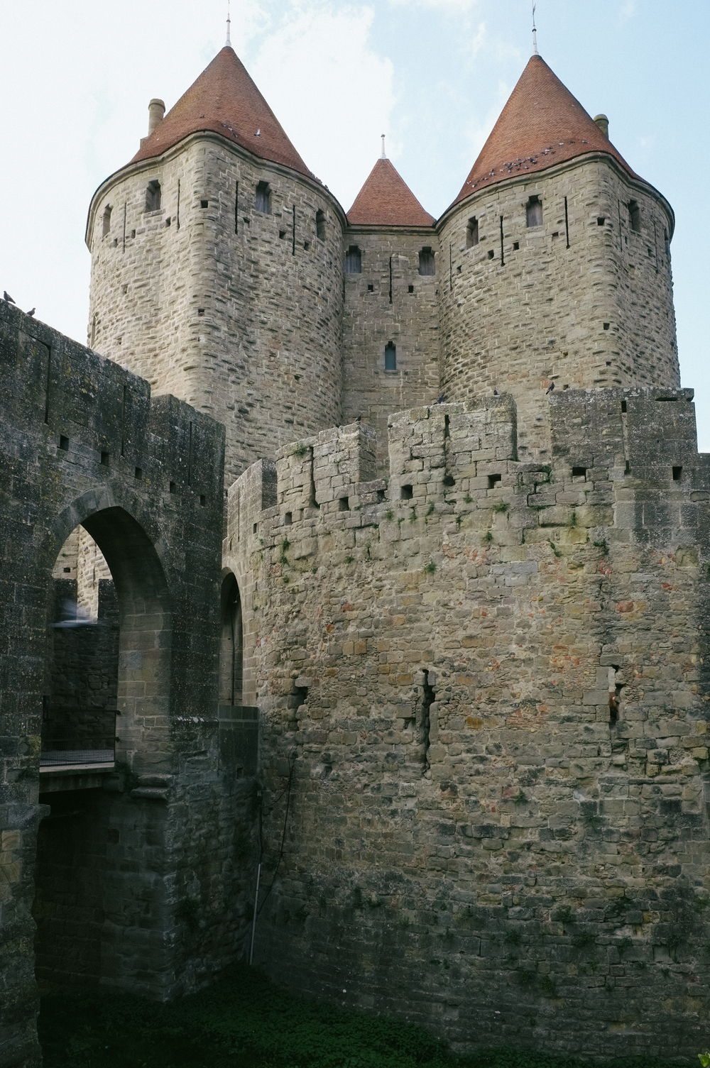 Drawbridge and turrets. Carcassonne