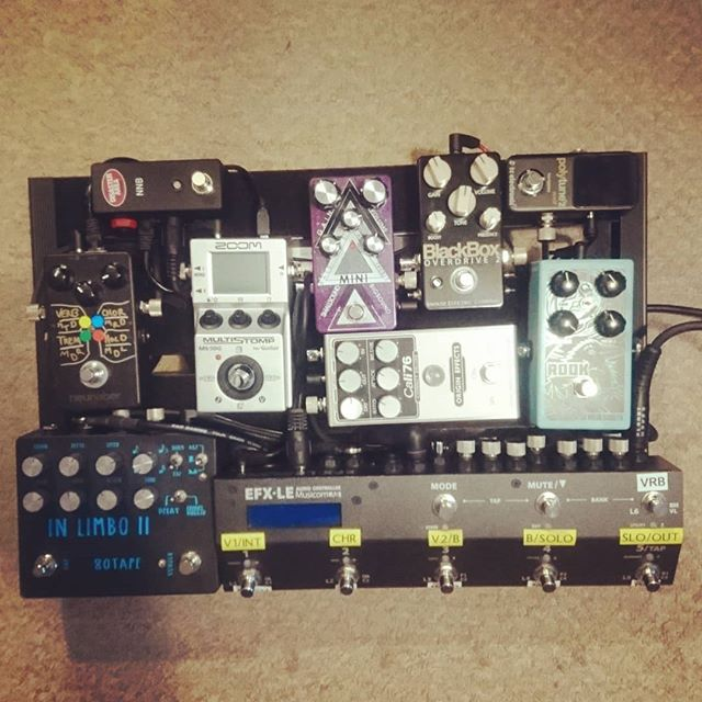 NPD: @origineffects Cali76 Compact Deluxe. Think I need a bigger board. #tetris #knowyourtone #gearybusey #pedalsandeffects #music