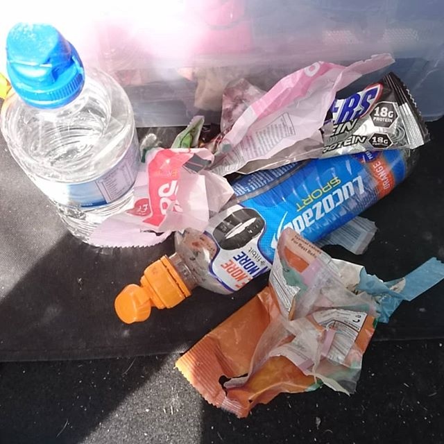 Here's some of the shit I picked up on a quick blue run at @oneplanetadventure Llandegla today. It's just not that hard to keep this shit in your pack. Have some respect! #payitforward #opallandegla #cleantrailsarehappytrails