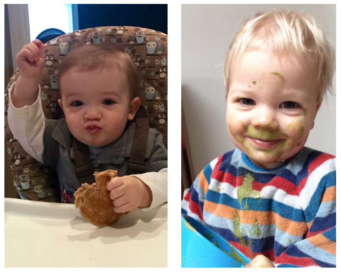 These two mini-studs lovin their KO Pancakes & Green Smoothies! (Bruce / Harley)