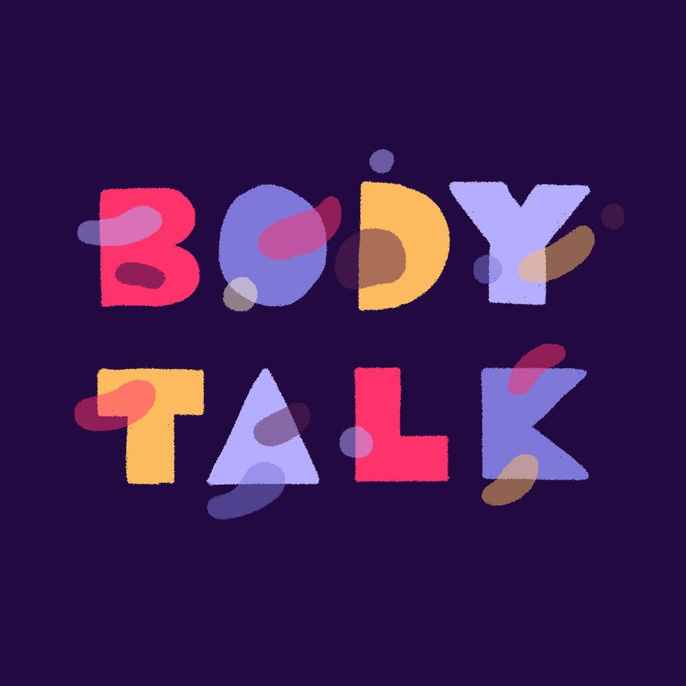 Body Talk Lettering for TEENBreathe Magazine