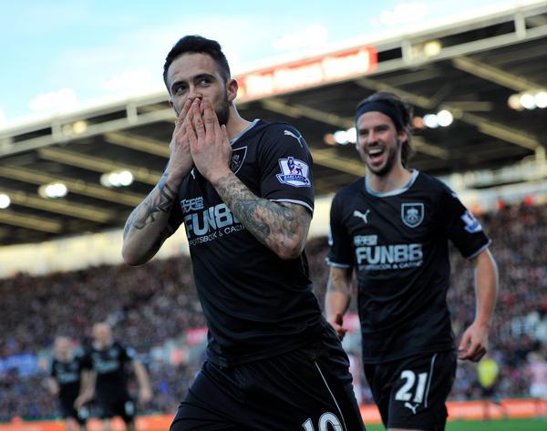 Danny Ings, celebrando uno de sus goles en el Britannia