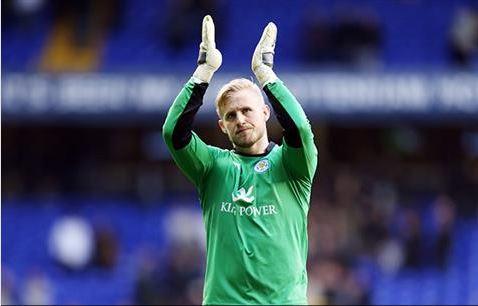 Kasper Schmeichel, de nuevo bajo los palos (Fotografía: Leicester City)