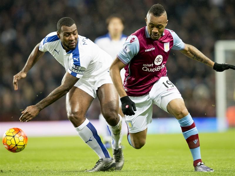 Wes Morgan y Jordan Ayew | Fotografía: Aston Villa FC