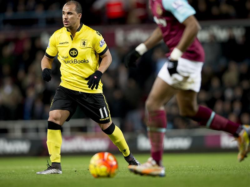 Gabriel Agbonlahor frente al West Ham | Fotografía: Aston Villa FC