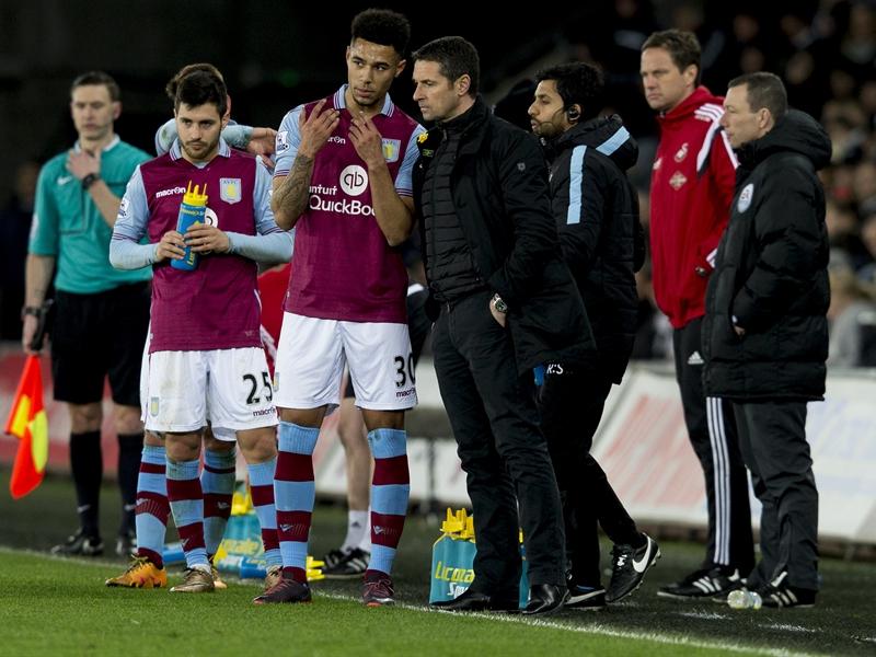 André Green y Rémi Garde en el Liberty | Fotografía: Aston Villa FC