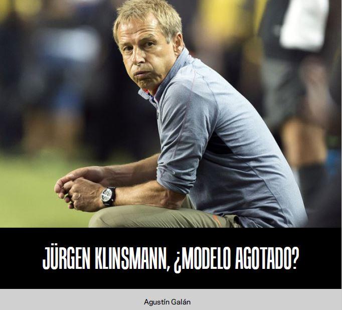 Jürgen Klinsmann, ¿modelo agotado?