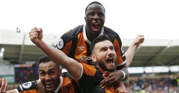 Robert Snodgrass celebra su gol | Fotografía: Hull City