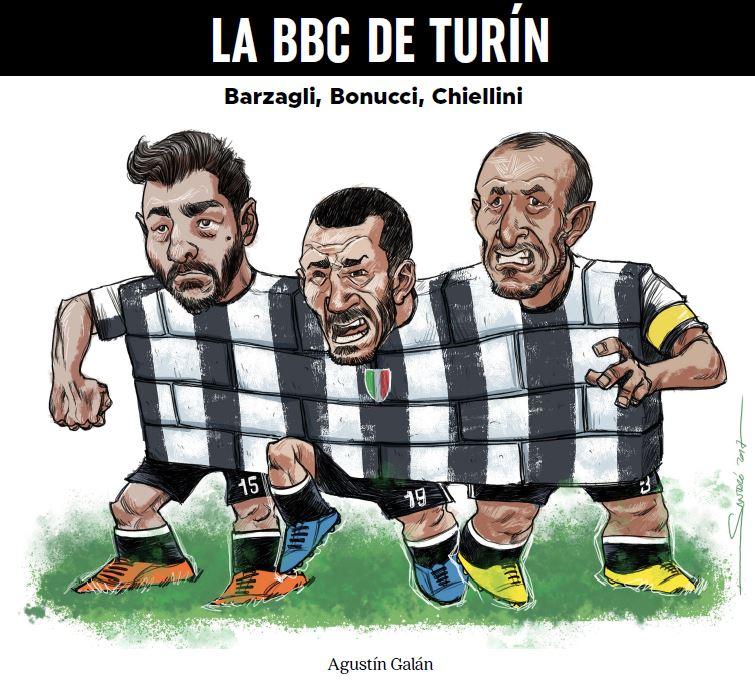 La BBC de Turín. Barzagli, Bonucci, Chiellini