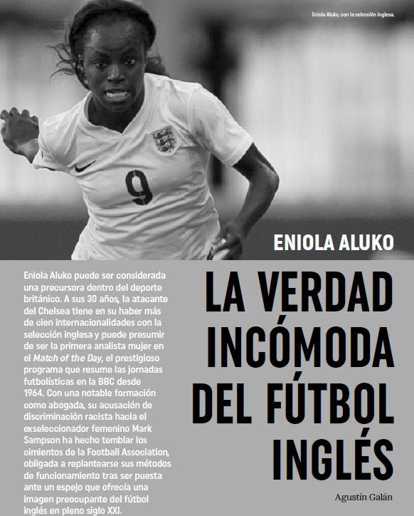 Eniola Aluko. La verdad incómoda del fútbol inglés (Ene-2018)