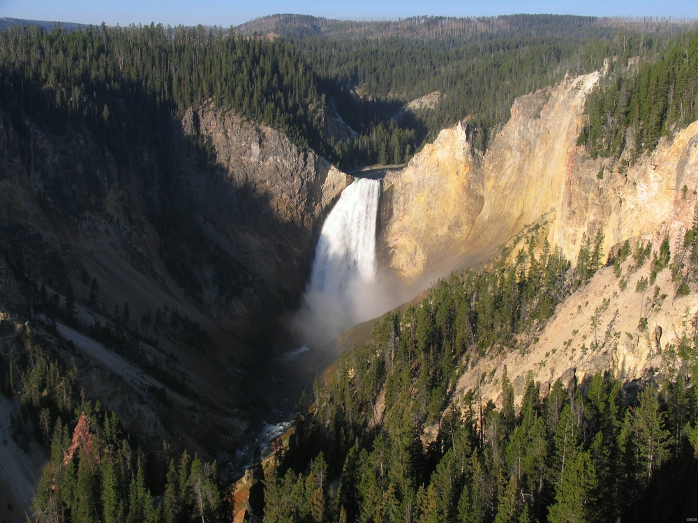 Yellowstone River., Yellowstone National Park. Courtesy of the  US Geological Survey .
