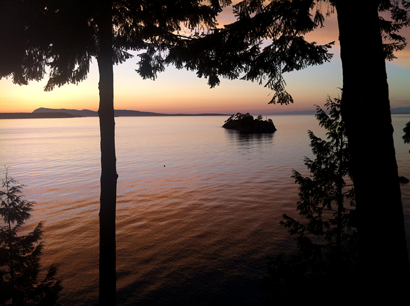 sunset from orcas island