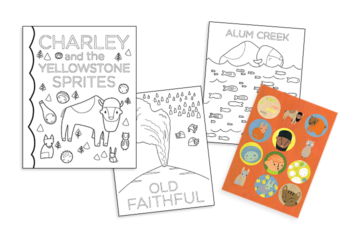 Coloring book and stickers!
