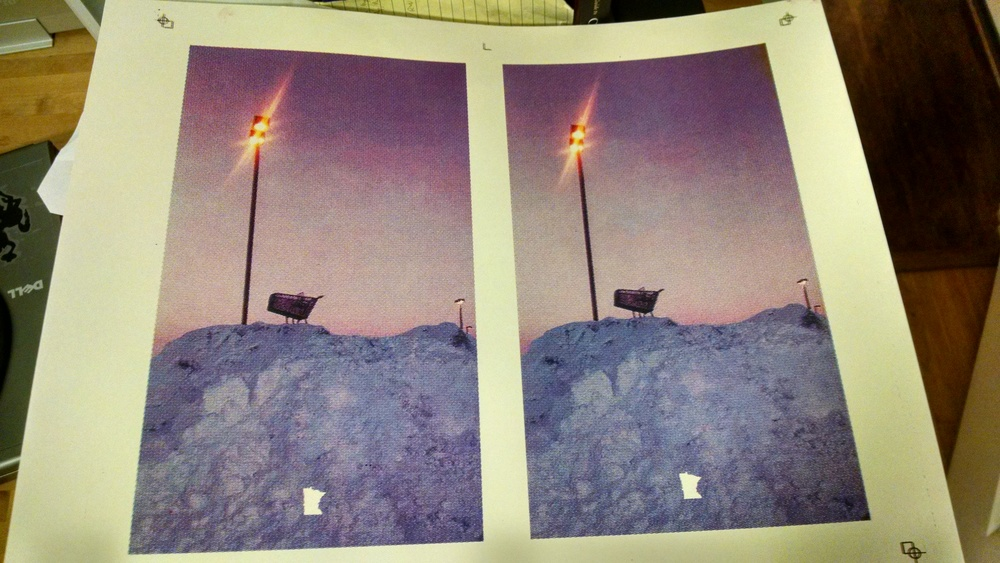 One of the pieces I made during my time at Schoolhaus/A4. A CMYK screen print of a photo I took in a Target parking lot, middle of winter 2013.