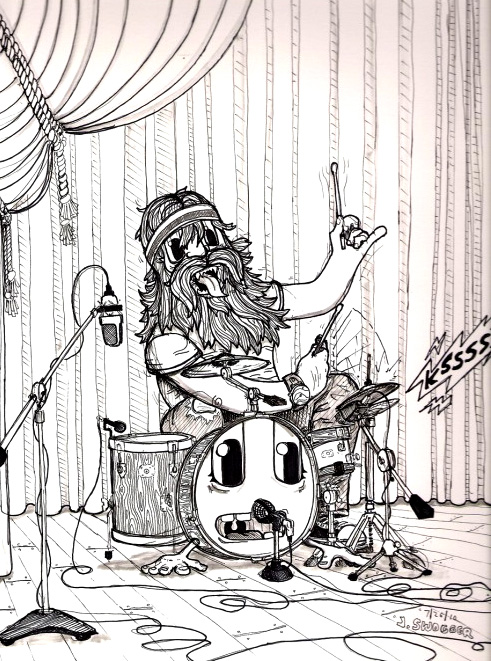 Hair Drummer