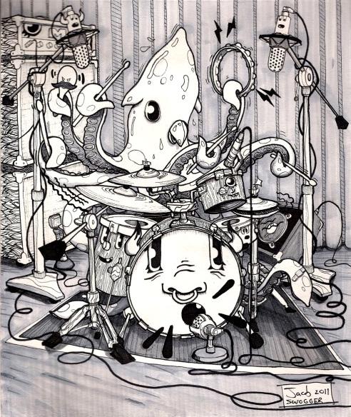 Squid Drummer