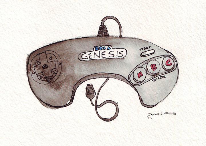 Sega Genesis 3 button
