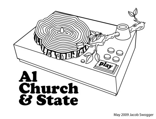 Al Church & State T-Shirt Design