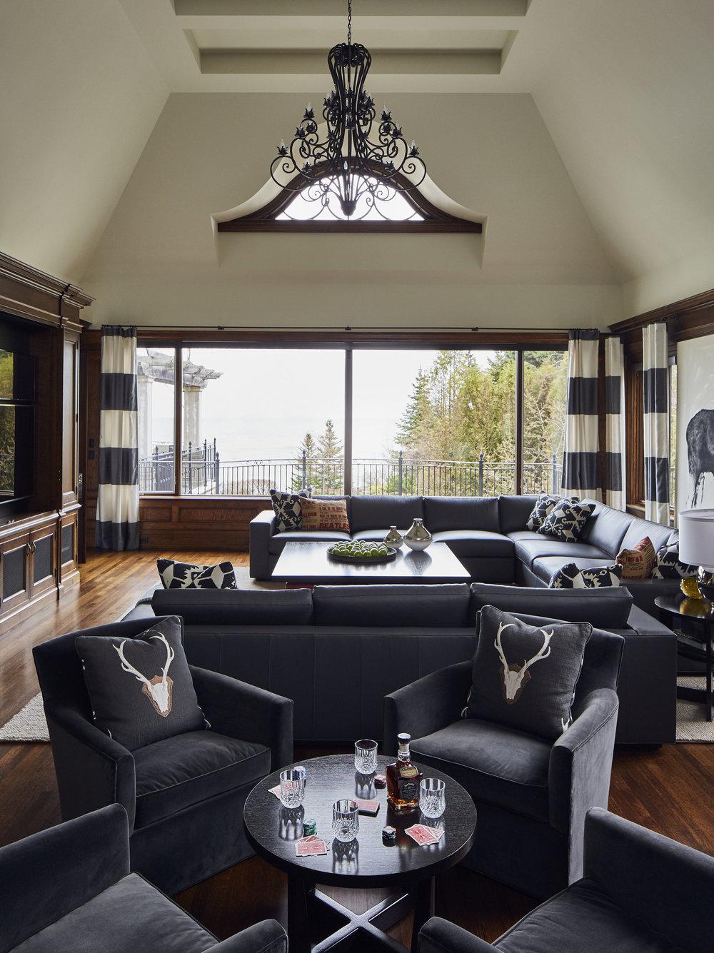Lake View Home Family Room