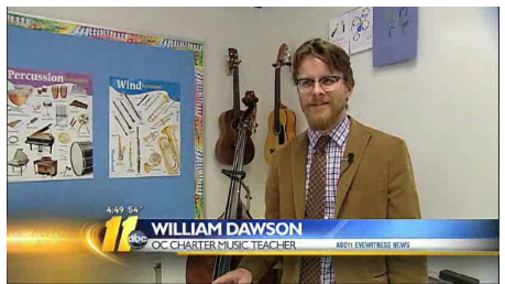 Click above to see an ABC 11 News piece about Ironing Board Sam visiting and performing with local students.