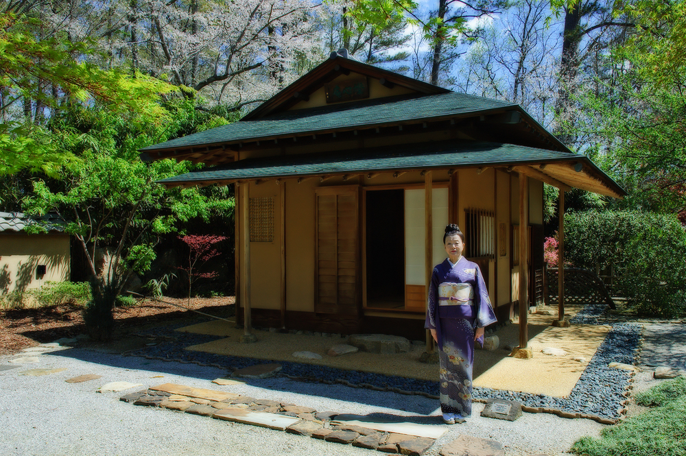 Japanese Garden tea house at the Birmingham Botanical Gardens