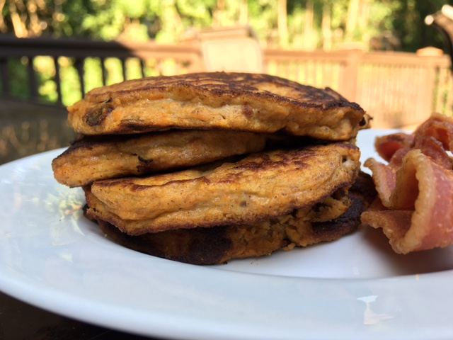 Sweet Potato Pumpkin Spice Pancakes