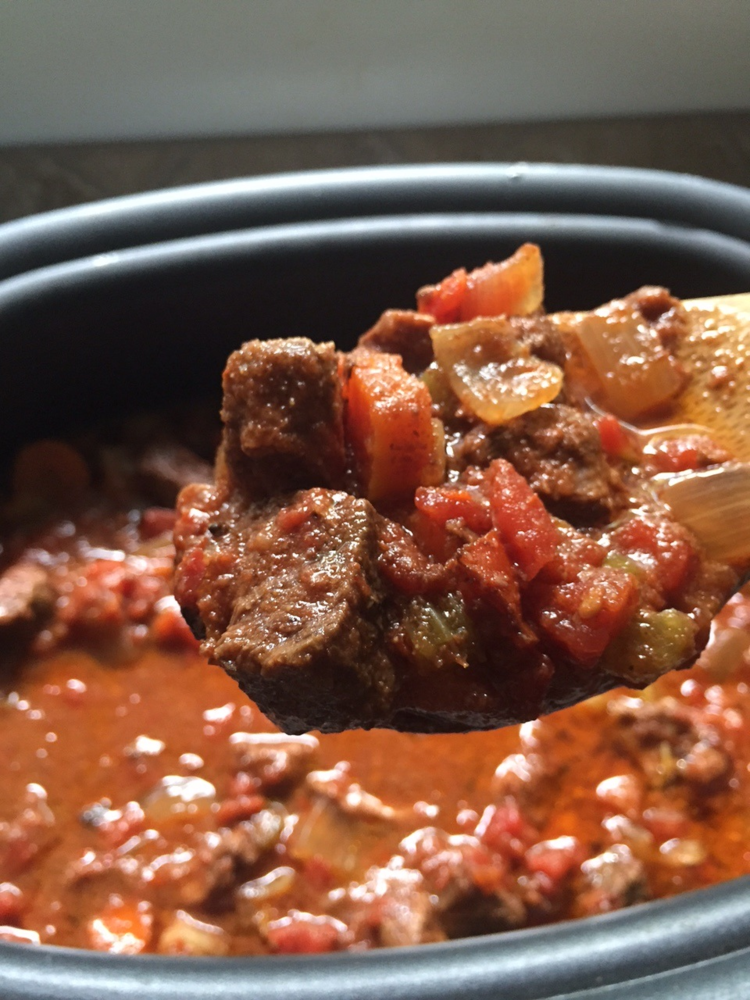 Spicy Steak Lovers' Crock Pot Chili