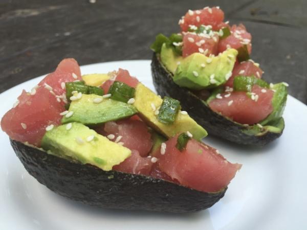 Ahi Tuna Avocado Poke Bowls