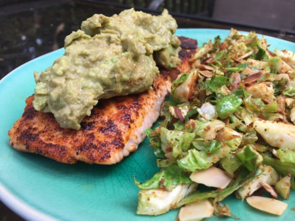 Guacamole Stacked Salmon