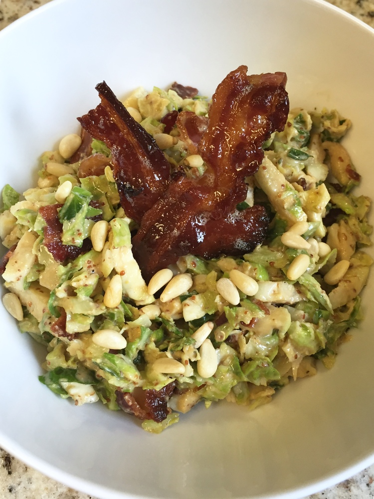 Mustard & Bacon Brussels Sprout Slaw