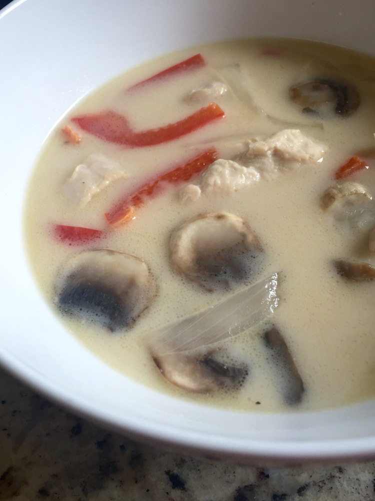 Thai Coconut Chicken Soup (Tom Kha)