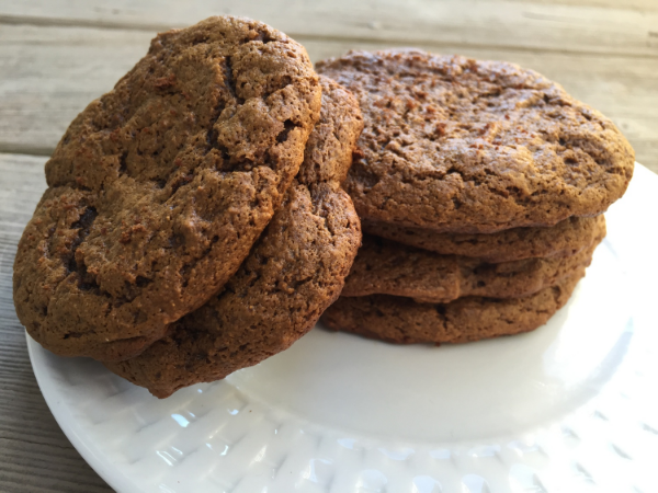 Chewy Cashew Butter Molasses Cookies