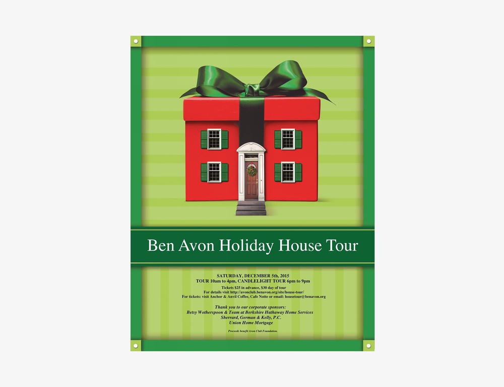 Ben Avon Holiday House Tour poster