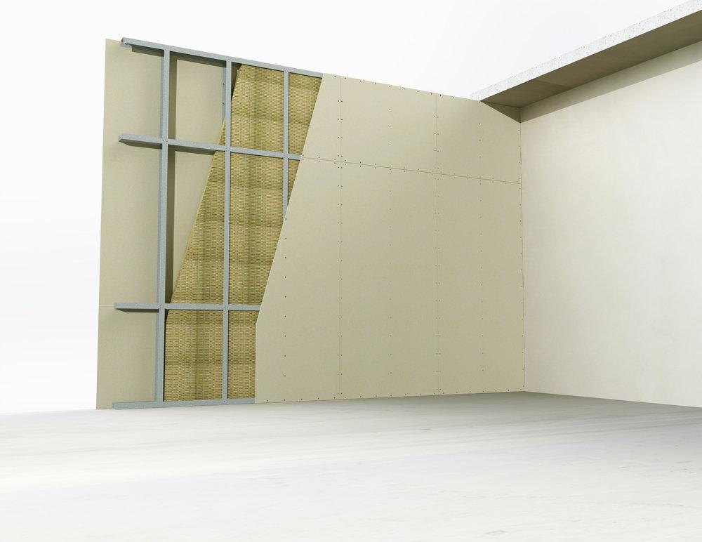Steel framed partitions