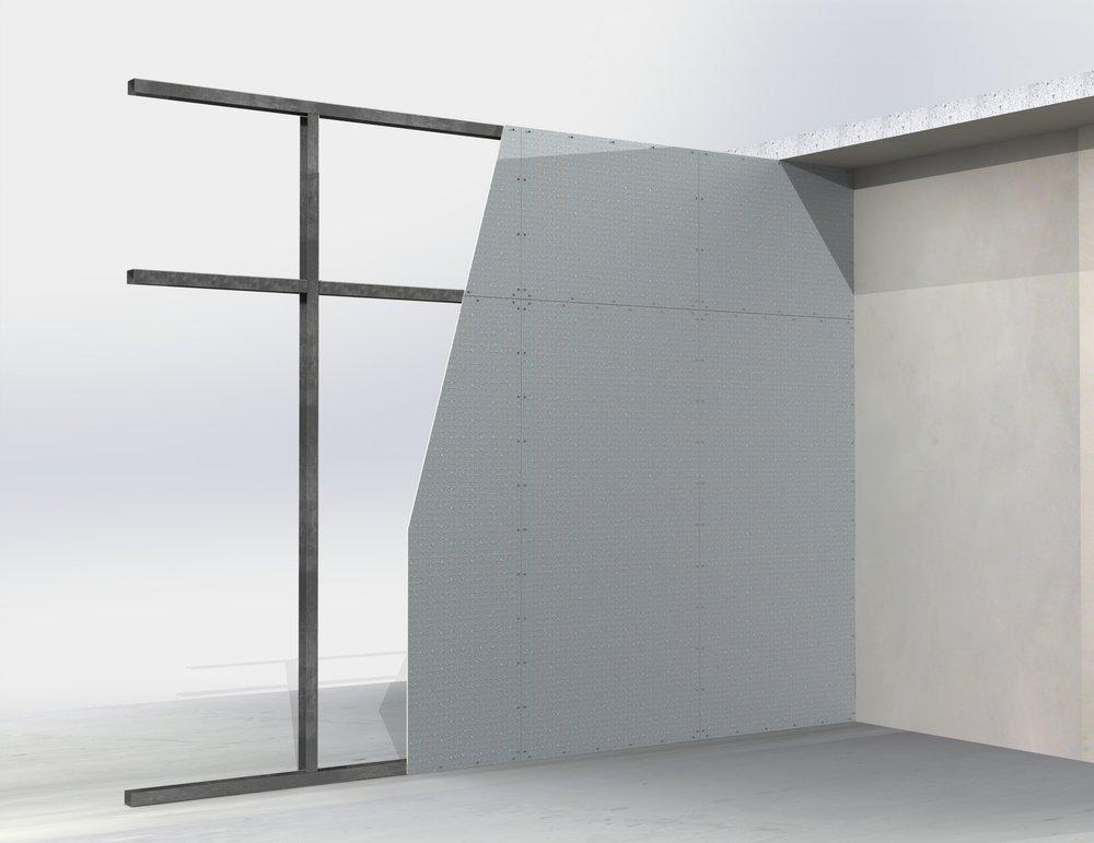 Steel framed blast walls (high impact resistance)
