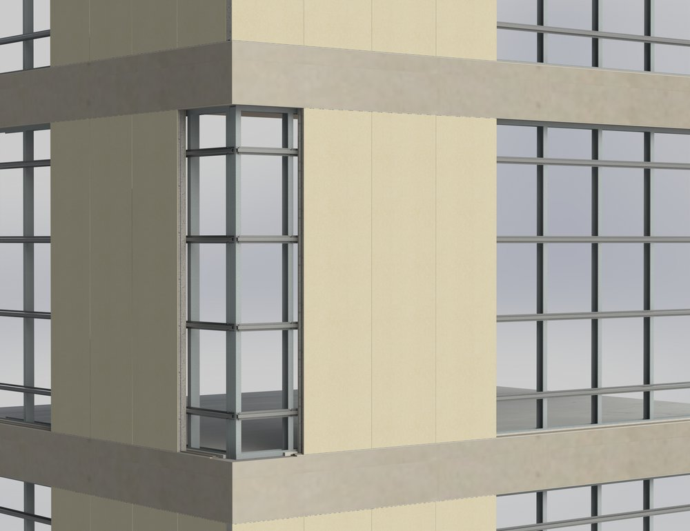 External walls (sold panel)