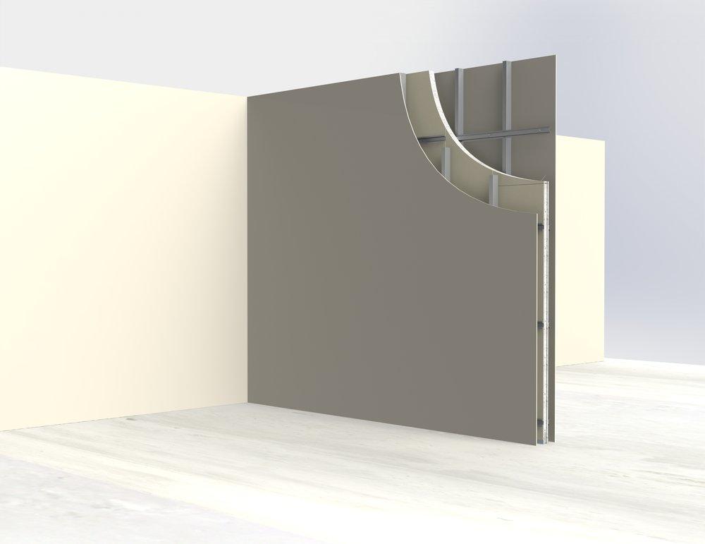 Intertenancy walls (solid panel)