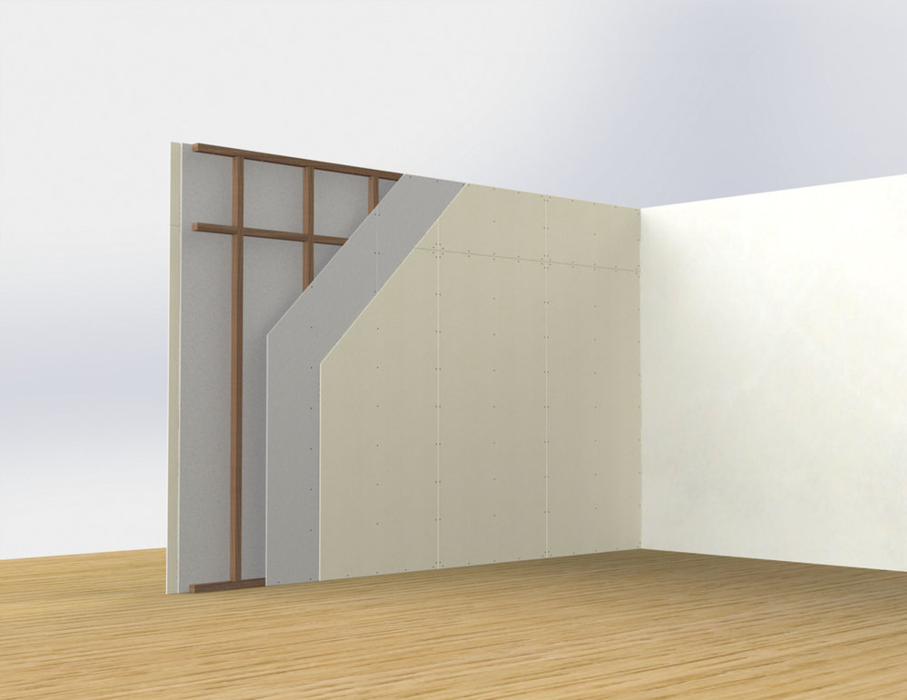 Timber or steel framed partitions (impact resistance)