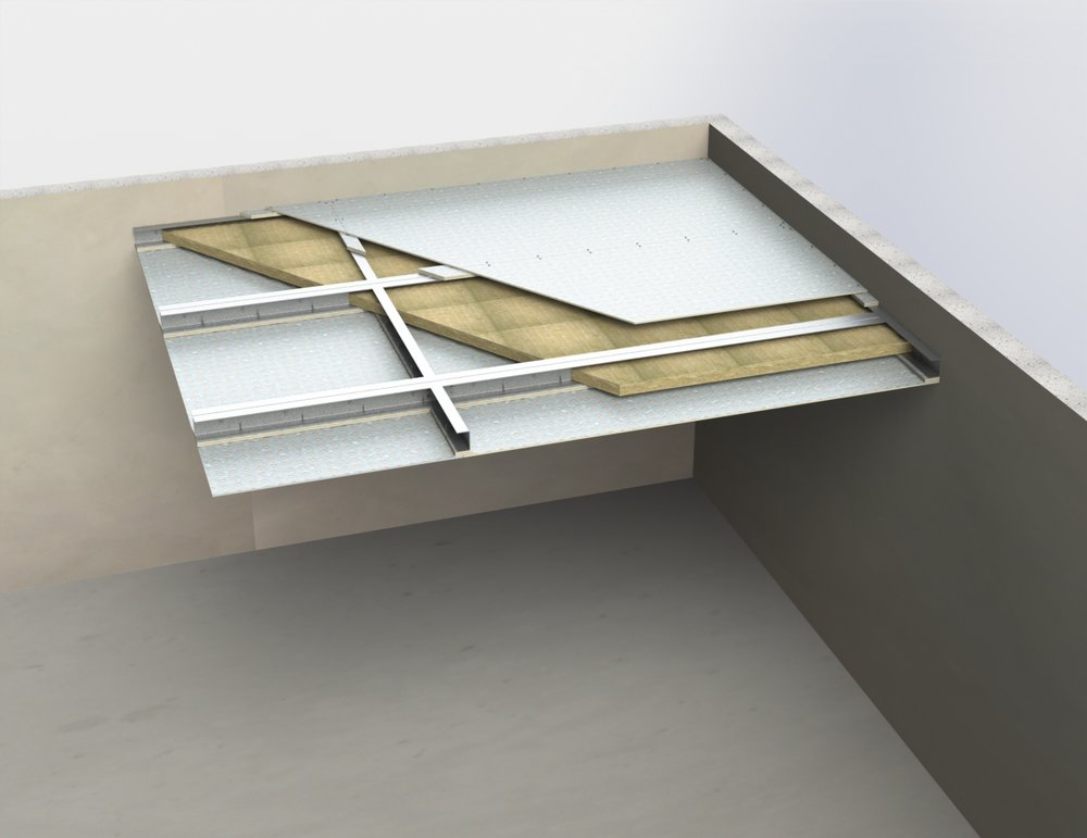 Self supporting ceiling membranes (high impact resistanc   e)