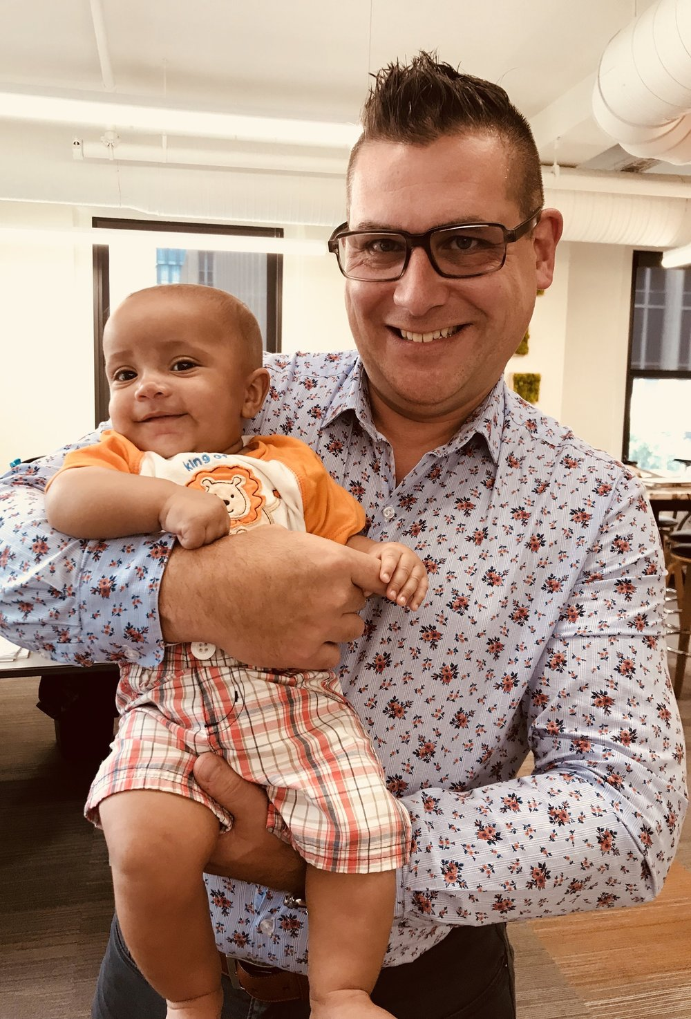 A surprise visit by the most adorable baby in the office…
