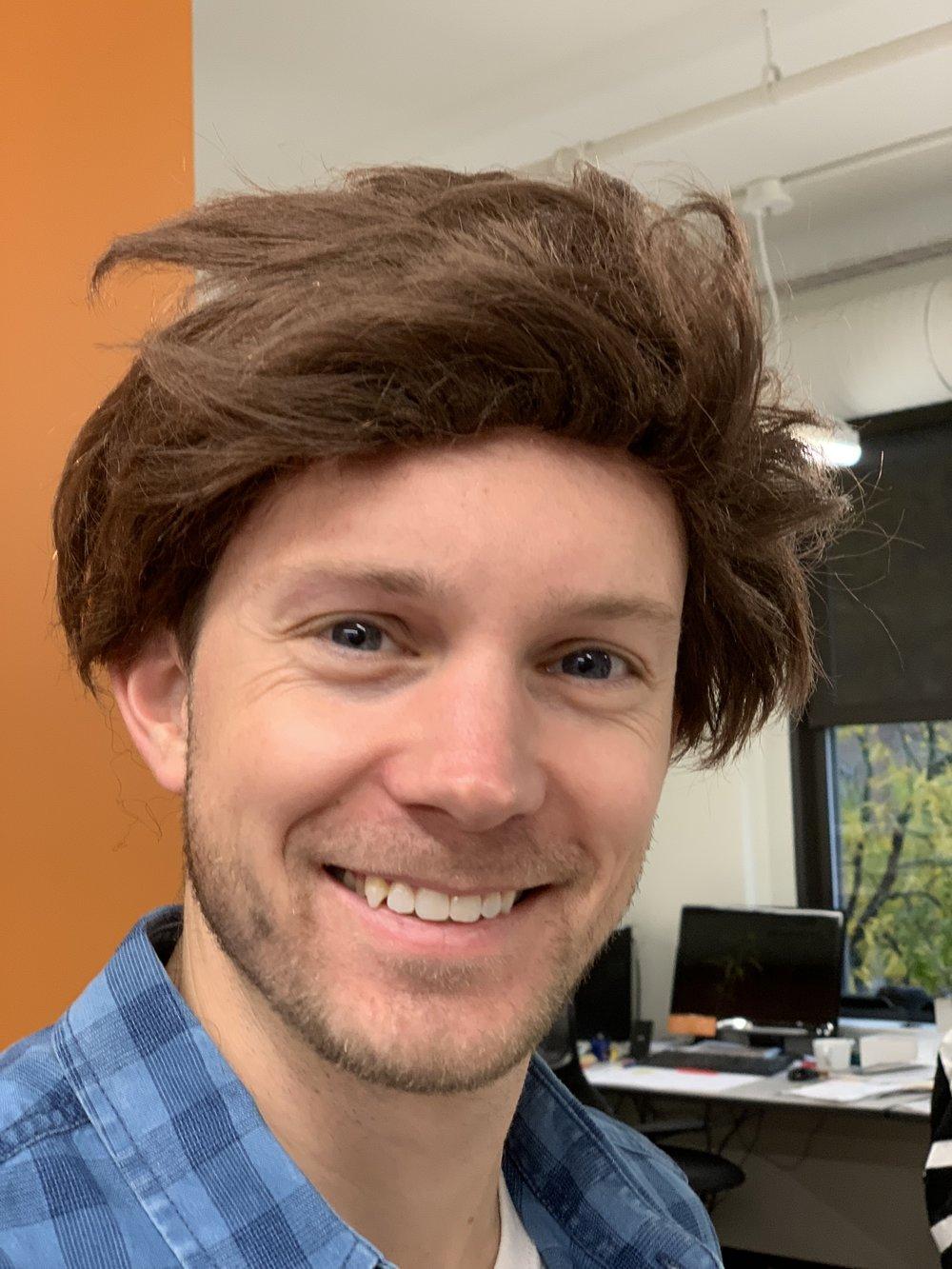Our Lumberjack Adam [sans beard]