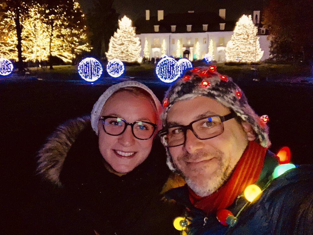 Haley and Rod all lit up at Winterlights