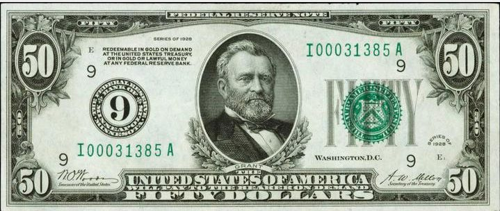 The poster contest winner gets a fifty dollar bill just like this one!